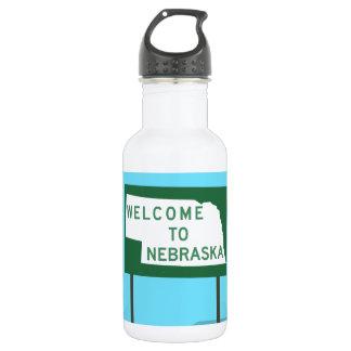 """""""ネブラスカへの歓迎""""の印 ウォーターボトル"""