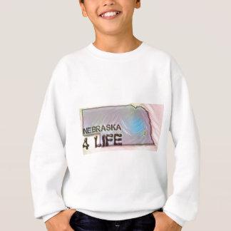 """""""ネブラスカ4生命""""の州の地図のプライドのデザイン スウェットシャツ"""