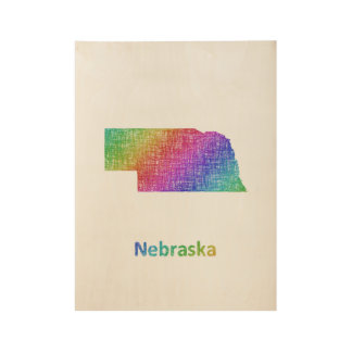 ネブラスカ ウッドポスター