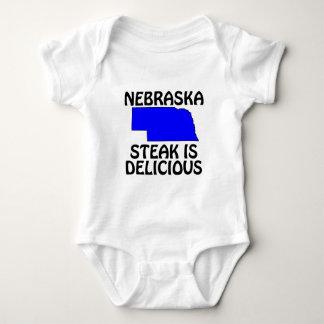 ネブラスカ-ステーキはDelicioiusです ベビーボディスーツ