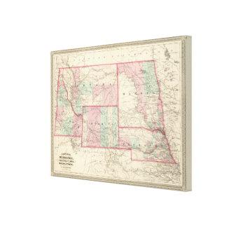 ネブラスカ、ダコタ、アイダホ、モンタナおよびワイオミング キャンバスプリント