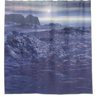 ネプチューンの凍結する海 シャワーカーテン