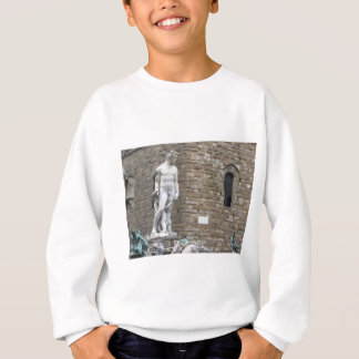 ネプチューン噴水およびPalazzo Vecchio スウェットシャツ
