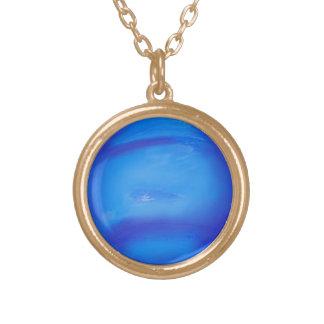 ネプチューン天文学の宇宙の青 オリジナルネックレス