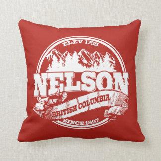 ネルソンの古い円の赤 クッション