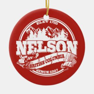 ネルソンの古い円の赤 セラミックオーナメント