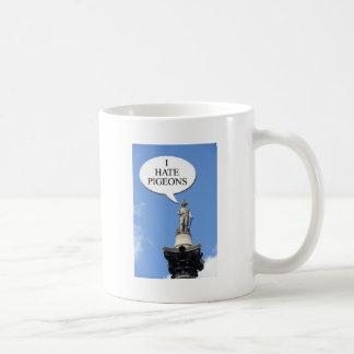 """ネルソンは""""私がハト""""を憎むことを言います コーヒーマグカップ"""