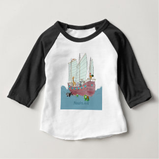 ノアの箱舟のアメリカの袖のRaglanのTシャツ ベビーTシャツ