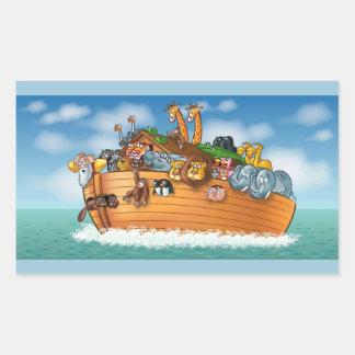 ノアの箱舟のステッカー 長方形シール