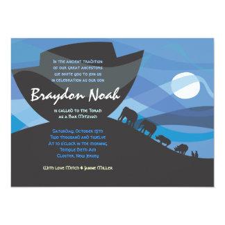 ノアの箱舟のバーのバルミツワーの招待状の招待 カード