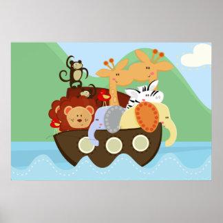 ノアの箱舟のベビーの子供部屋ポスター ポスター