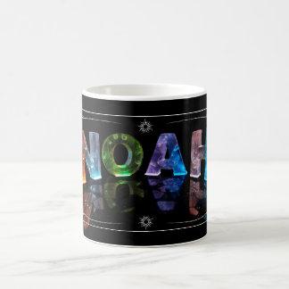 ノア- 3Dの一流のノアはつきます(写真) コーヒーマグカップ