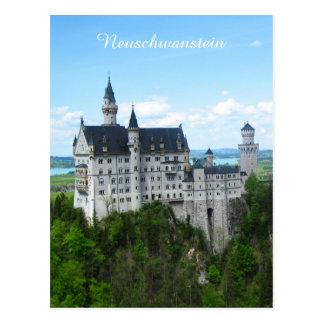 ノイシュヴァンシュタイン城のパノラマ ポストカード