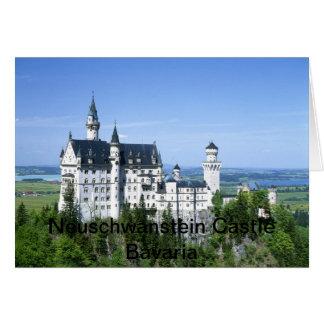 ノイシュヴァンシュタイン城の城のババリアドイツ カード