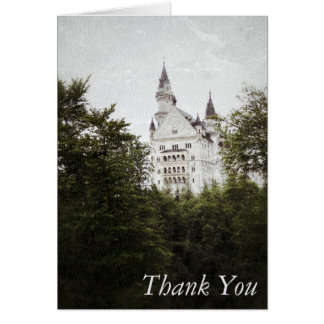 ノイシュヴァンシュタイン城の城の写真の芸術のサンキューカード カード