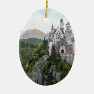 ノイシュヴァンシュタイン城の城の石版 セラミックオーナメント