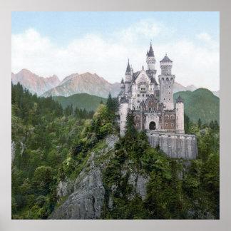 ノイシュヴァンシュタイン城の城の石版 ポスター
