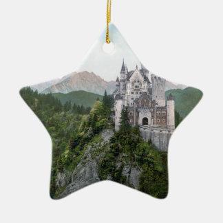 ノイシュヴァンシュタイン城の城の石版 陶器製星型オーナメント