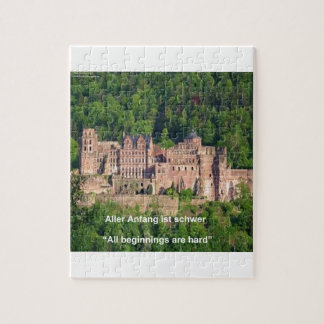 ノイシュヴァンシュタイン城の城ブランクフルト及びドイツの引用文 ジグソーパズル