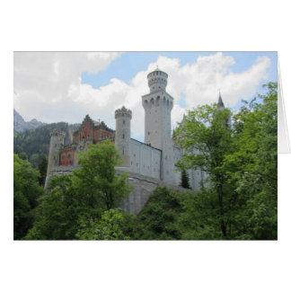 ノイシュヴァンシュタイン城の城-ドイツ カード