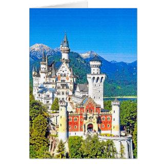 ノイシュヴァンシュタイン城の城、ドイツ カード