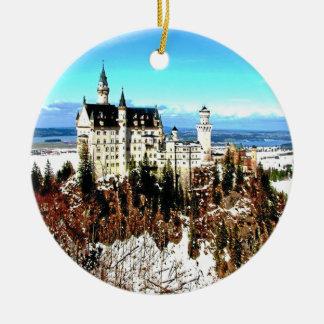ノイシュヴァンシュタイン城の城、ドイツ セラミックオーナメント