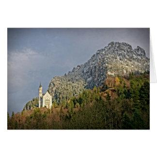 ノイシュヴァンシュタイン城の城-ドイツ-挨拶状 カード