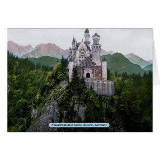 ノイシュヴァンシュタイン城の城、ババリア、ドイツ カード