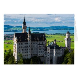 ノイシュヴァンシュタイン城の城-ババリア-ドイツ カード