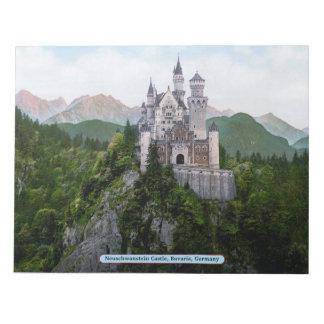 ノイシュヴァンシュタイン城の城、ババリア、ドイツ ノートパッド