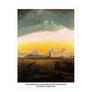 ノイブランデンブルク(朝の霧のノイブランデンブルク ポストカード