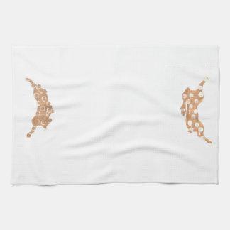 ノウサギの跳躍を用いる台所タオル キッチンタオル