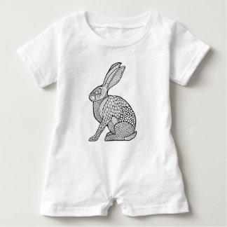 ノウサギ ベビーロンパース