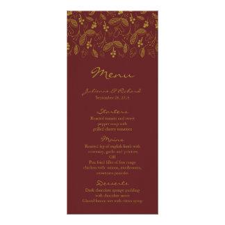ノスタルジア|の秋の結婚式メニュー ラックカード