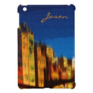 ノスタルジックなレトロの建物の反射の青空 iPad MINI カバー