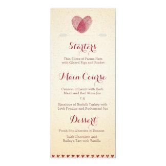 ノスタルジックなロマンス-カスタムな結婚式メニュー カード