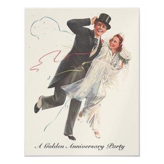 ノスタルジックな婚礼の日のカップル記念日の招待 カード