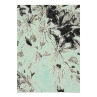 ノスタルジックな花の宝石 12.7 X 17.8 インビテーションカード