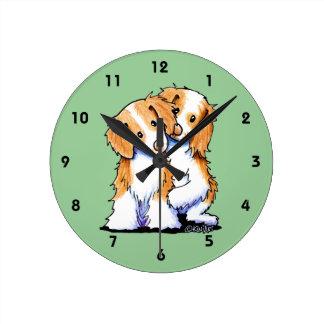 ノバスコシアのアヒルの鳴るレトリーバー ラウンド壁時計