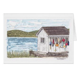 ノバスコシアのスケッチの魚釣りの掘っ建て小屋 カード