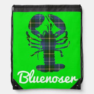 ノバスコシアのタータンチェックのBluenoserのドローストリングバッグ ナップサック