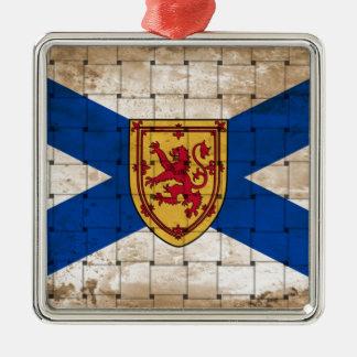 ノバスコシアの動揺してな旗 メタルオーナメント