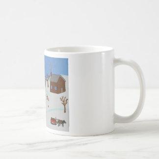 ノバスコシアの民芸のマグ-記録日 コーヒーマグカップ