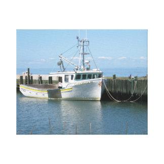 ノバスコシアの漁船 キャンバスプリント