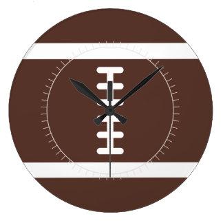 ノベルティのフットボール ラージ壁時計