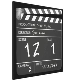 ノベルティの名前入りでユニークな映画Clapperboard キャンバスプリント