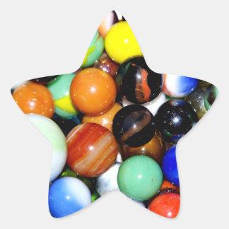 ノベルティの大理石のコレクション 星シール