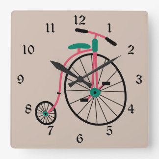 ノベルティの旧式のバイク スクエア壁時計