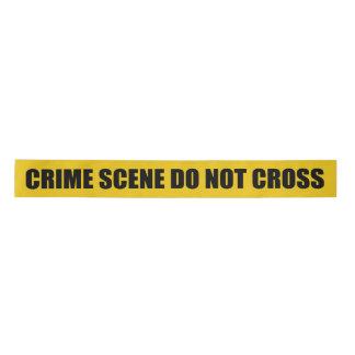 ノベルティの犯罪現場は交差しません サテンリボン