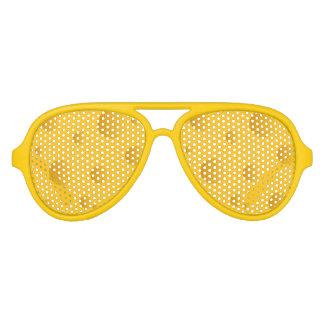 ノベルティの黄色いチーズデザインのパーティーの陰 アビエーターサングラス
